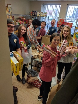 2018 Family Weekend Participants Donate Over 300 Pounds of Food